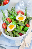 Salad. Spring salad with asparagus and egg Royalty Free Stock Photography