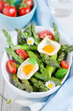Salad. Spring salad with asparagus and egg Stock Image