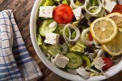 Salad. Mediterranian fresh salad with olives Stock Image
