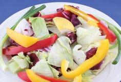 Salad. Fresh vegetable salad on white plate Stock Photo