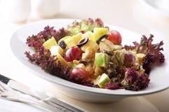 Salad. With tomato,fruits,olives Stock Image