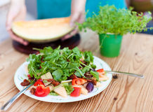 Salad. In a bowl on the table Stock Photo