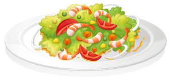 Salad. Illustration of a salad on a white background Stock Photos