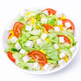Salad. Mediterranean-Style Salad with Feta and Olive oil royalty free stock images
