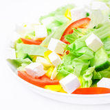Salad. Mediterranean-Style Salad with Feta and Olive oil Royalty Free Stock Photo