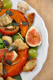 Salad. Fresh Salad on a plate with figs and squash Royalty Free Stock Photography