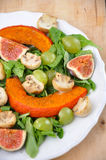 Salad. Fresh Salad on a plate with figs and squash Royalty Free Stock Image