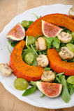 Salad. Fresh Salad on a plate with figs Stock Images