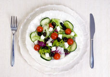 Salad. A health dinner salad with lots of greens Royalty Free Stock Photos