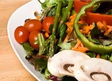 Salad. Nice bowl of salad greens bright and colorful Stock Image