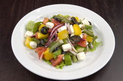 Salad. Wealth of vegetables on the plate Royalty Free Stock Photo