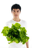 Salad. A Health Asian holding  salad Royalty Free Stock Photos