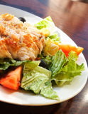 Salad. With chicken meat, tomato, olive and lettuce Royalty Free Stock Photography