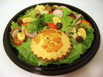 Salad. Tropical fresh Quiche salad to travel Royalty Free Stock Image