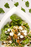 Salad. Fresh spring salad with carrot and nuts Royalty Free Stock Image