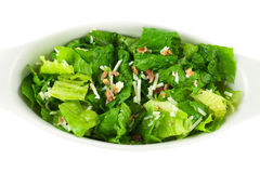 Salad. Caesar salad isolated in white Royalty Free Stock Photography