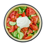 Salad. Summer salad isolated over white background Royalty Free Stock Images