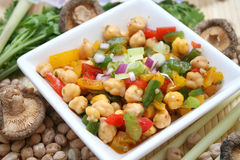 Salad. A fresh salad of chick peas and paprika Stock Photos