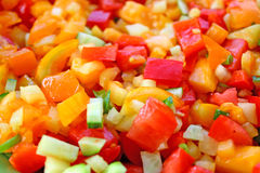 Salad. Close up of the mixed vegetables in salad Stock Photo