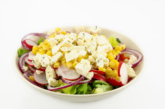 Salad. Plate on white background Stock Images