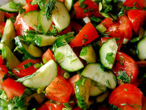 Salad. Of Tomatoes and Cucumbers Stock Image