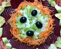 Salad. Alad with vegetables and greens royalty free stock images