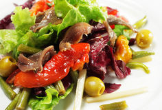 Salad with Anchovy Stock Photo