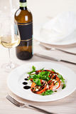 Salad And White Wine Royalty Free Stock Image
