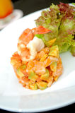 Salad apetizer with shrimp Stock Image