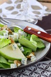 Salad with apple, cheese and walnuts Stock Photo