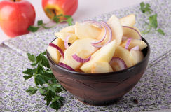 Salad with apples and red onions Royalty Free Stock Image