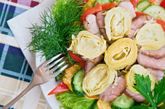 Salad with artichoke Stock Photos