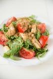 Salad with arugula, asparagus and tomato. Fresh Salad with arugula, asparagus and tomato Stock Images