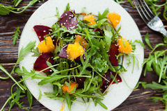Salad with arugula and beets Royalty Free Stock Image