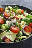 Salad with arugula and cheese Stock Images