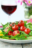 Salad with arugula and cherry tomatoes Royalty Free Stock Photo