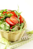 Salad with arugula and cherry tomatoes Stock Photography