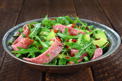 Salad with arugula Royalty Free Stock Photos