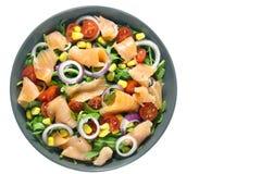 Salad with arugula and smoked salmon Royalty Free Stock Photography