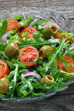 Salad with arugula Royalty Free Stock Image