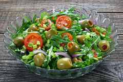 Salad with arugula Royalty Free Stock Photos