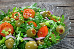 Salad with arugula Royalty Free Stock Photography