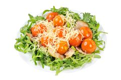 Salad with arugula and tomatoes Royalty Free Stock Photography