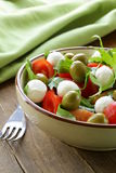 Salad with arugula, tomatoes and mozzarella Royalty Free Stock Image