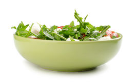 Salad from arugula tomatoes and mozzarella Royalty Free Stock Photos