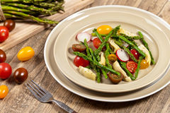 Salad with Asparagus Stock Photos