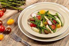 Salad with Asparagus stock photos