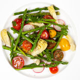 Salad with Asparagus stock image