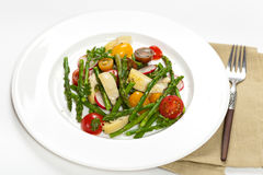 Salad with Asparagus royalty free stock photography
