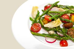 Salad with Asparagus Royalty Free Stock Image